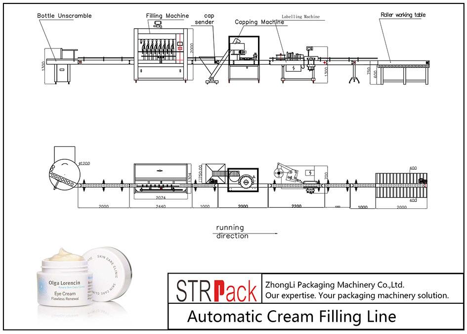自动奶油灌装线