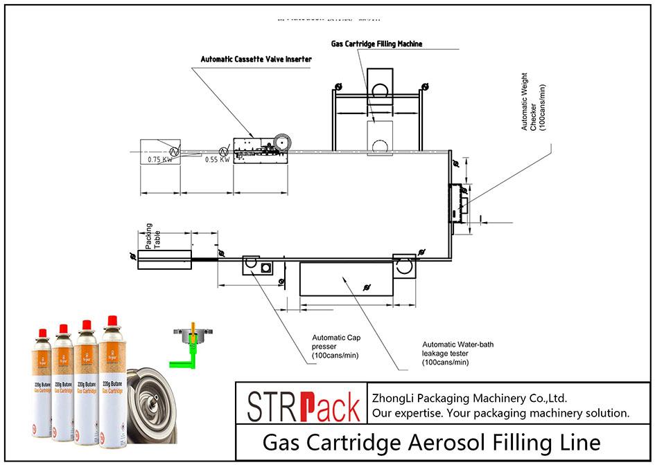 自动气瓶气雾剂灌装线