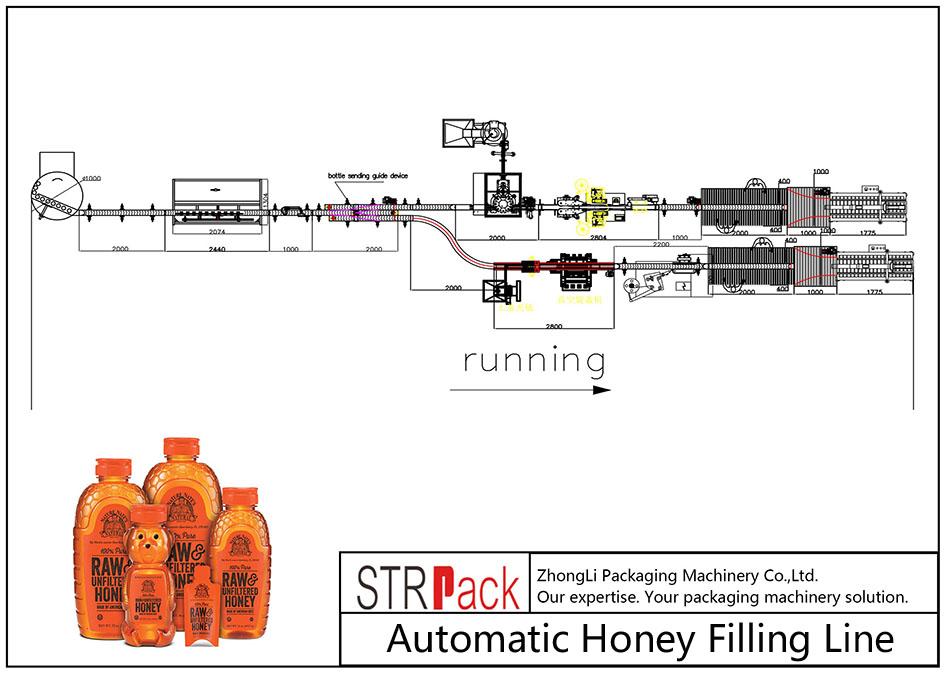 自动蜂蜜灌装线
