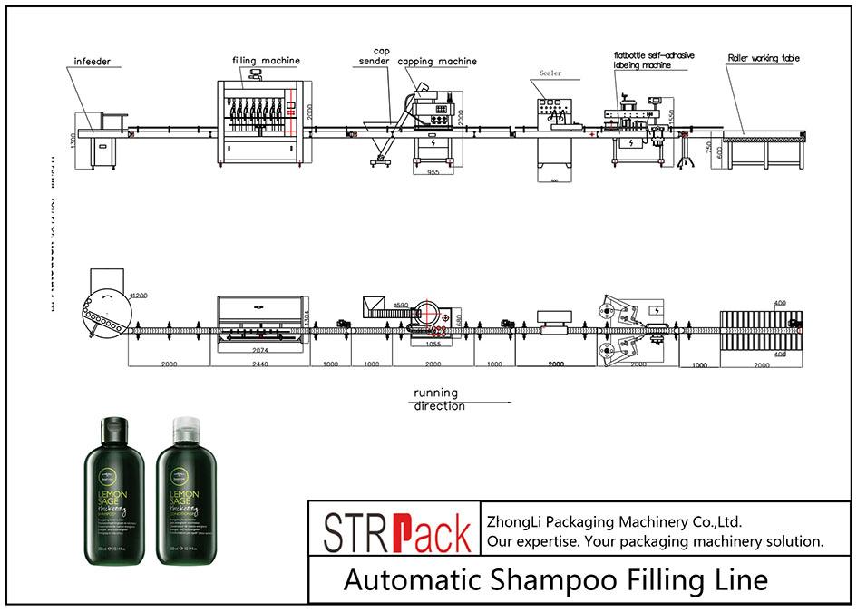 自动洗发水灌装线