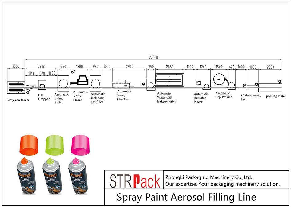 自动喷涂气雾剂灌装线