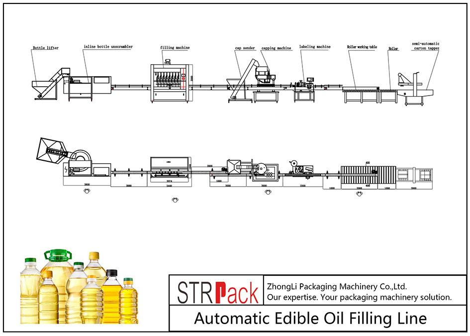 食用油自动灌装线