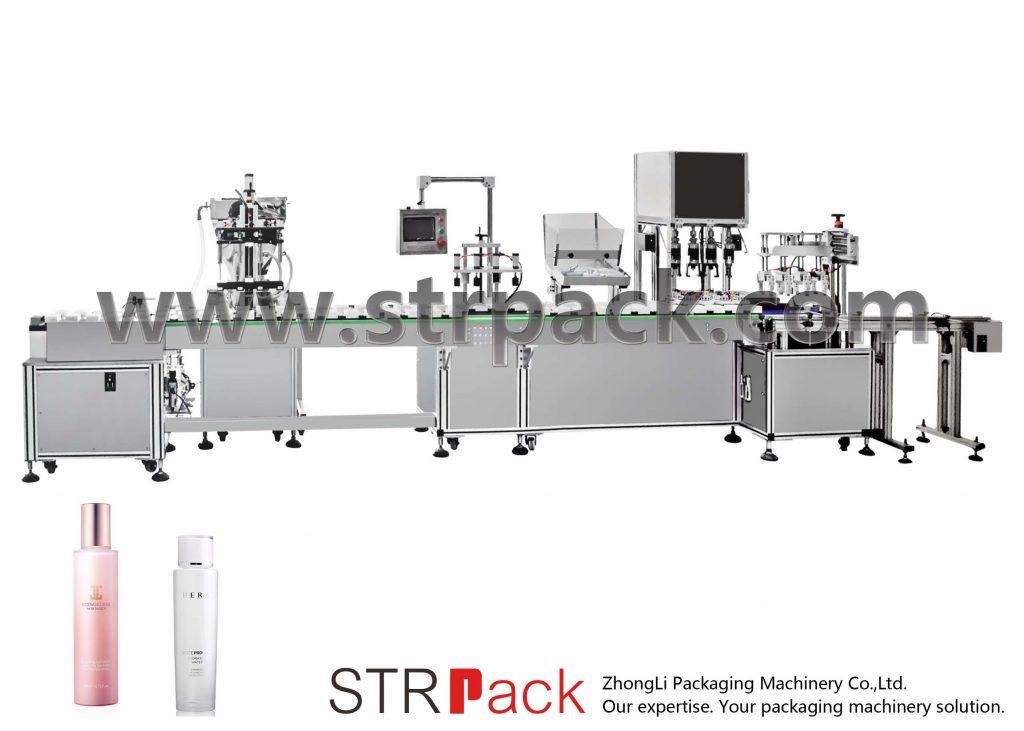 自动水乳液灌装旋盖机